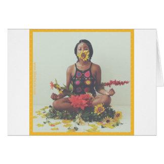 Sha Davis Meditation floral design Card