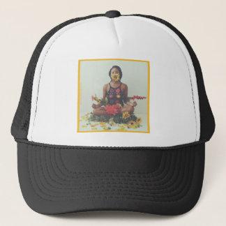 Sha Davis Meditation floral design Trucker Hat