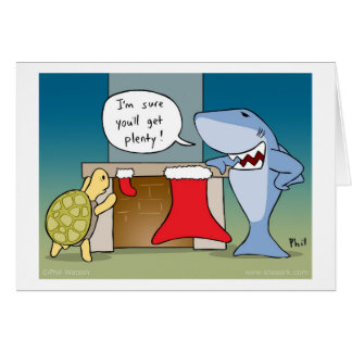 Shaaark cartoon Christmas card