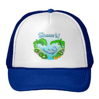Shaaark in a hammock trucker cap trucker hat
