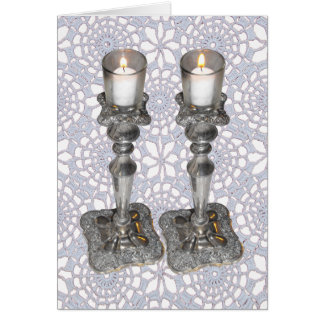 Shabbat Candles Card