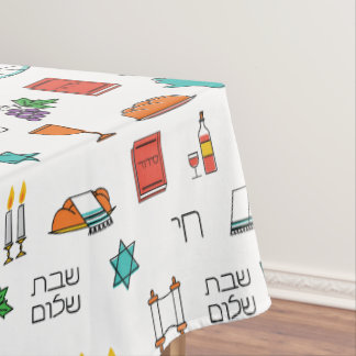Shabbat Shalom Tablecloth