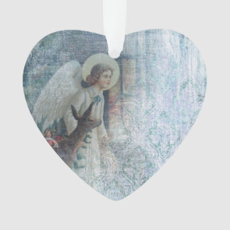 Shabby Angel Acrylic Ornament