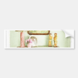 Shabby Bedroom Bumper Stickers