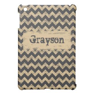 Shabby Chevron iPad Mini Cases