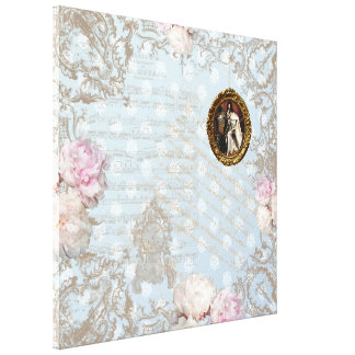 Shabby Chic 2 - Wrapped Canvas Canvas Prints