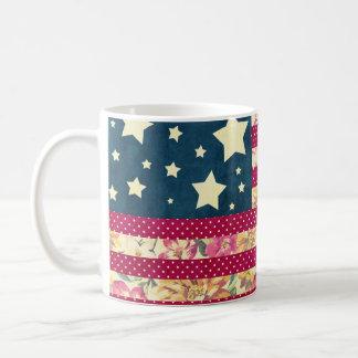 Shabby Chic | American Flag Quilt Coffee Mug