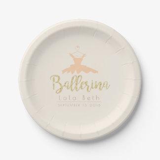 Shabby Chic Ballerina Tutu | Birthday 7 Inch Paper Plate
