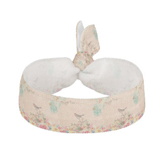 Shabby chic, bird,butterfly,lace,floral,country ch hair tie