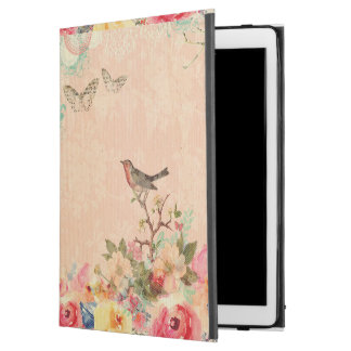 "Shabby chic, bird,butterfly,lace,floral,country ch iPad pro 12.9"" case"