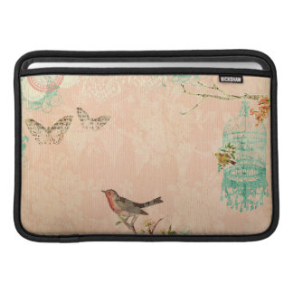 Shabby chic, bird,butterfly,lace,floral,country ch MacBook sleeve