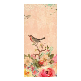 Shabby chic, bird,butterfly,lace,floral,country ch rack card