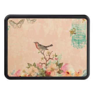 Shabby chic, bird,butterfly,lace,floral,country ch trailer hitch cover