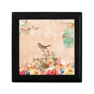 Shabby chic, bird,butterfly,lace,floral,country, gift box