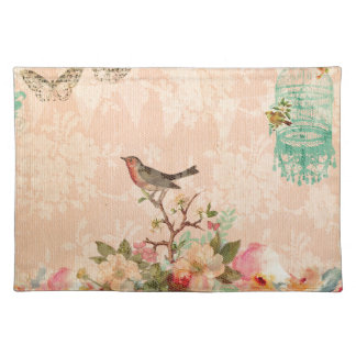 Shabby chic, bird,butterfly,lace,floral,country, placemat