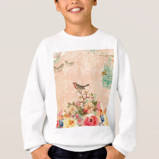 Shabby chic, bird,butterfly,lace,floral,country, sweatshirt