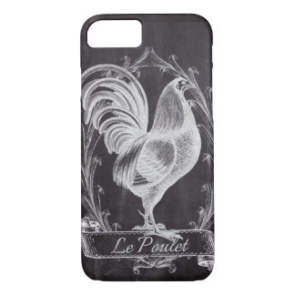 shabby chic blackboard french country rooster iPhone 8/7 case
