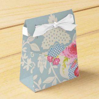 Shabby Chic Blue Floral Party Favor Gift Box Favor Box