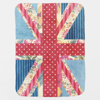 Shabby Chic | British Flag Baby Blanket