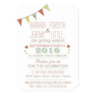 Shabby Chic Bunting Invitation Corners