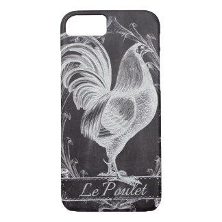 shabby chic chalkboard  vintage french rooster iPhone 7 case
