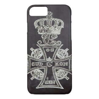 shabby chic chalkboard  vintage queen crown iPhone 7 case
