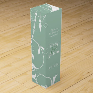 Shabby Chic Chandelier Green Wine Gift Box