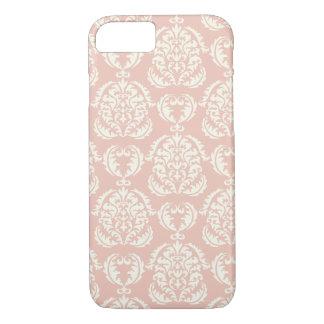 Shabby Chic Coral Damask Pattern Vintage Elegant iPhone 8/7 Case