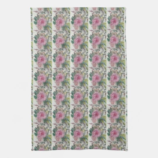 Shabby Chic English Rose Kitchen Towel