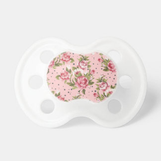 Shabby chic Floral  Baby Pacifiers