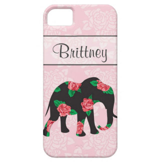 Shabby Chic Floral Elephant Iphone 5 case