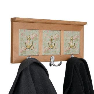 Shabby Chic floral girly nautical anchor Coat Racks