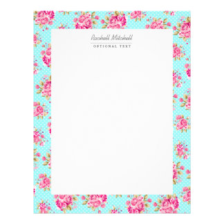 Shabby Chic Floral Roses Letterhead