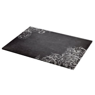 shabby chic flourish swirls chalkboard monogram boards