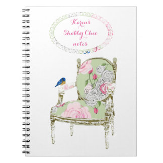 Shabby Chic French Chair notebook