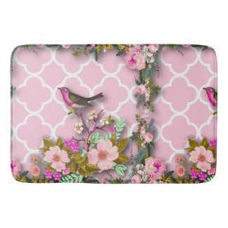 Shabby chic, french chic, vintage,floral,rustic,bi bath mat