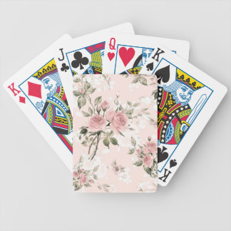 Shabby chic, french chic, vintage,floral,rustic, bicycle playing cards