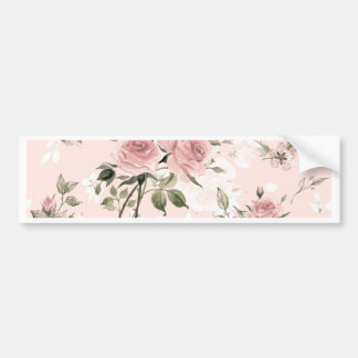 Shabby chic, french chic, vintage,floral,rustic, bumper sticker
