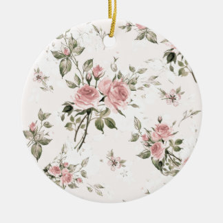 Shabby chic, french chic, vintage,floral,rustic, ceramic ornament