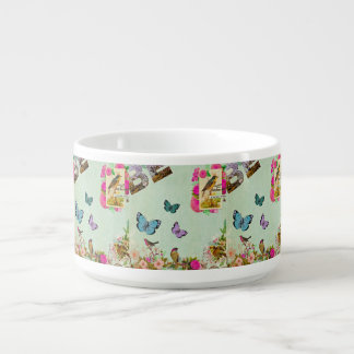 Shabby chic, french chic, vintage,floral,rustic,mi bowl