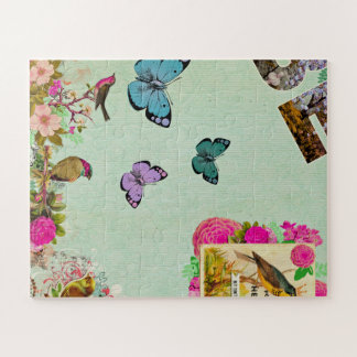 Shabby chic, french chic, vintage,floral,rustic,mi jigsaw puzzle