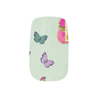 Shabby chic, french chic, vintage,floral,rustic,mi minx nail art