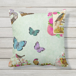 Shabby chic, french chic, vintage,floral,rustic,mi outdoor pillow