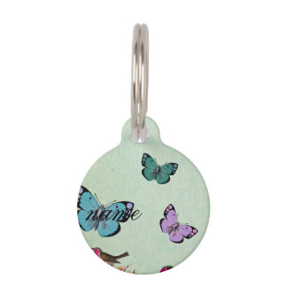 Shabby chic, french chic, vintage,floral,rustic,mi pet tag