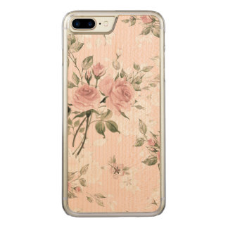 Shabby chic, french chic, vintage,floral,rustic,pi carved iPhone 8 plus/7 plus case