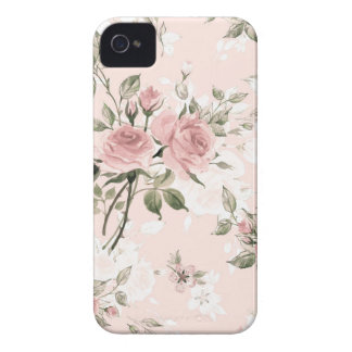 Shabby chic, french chic, vintage,floral,rustic,pi Case-Mate iPhone 4 cases