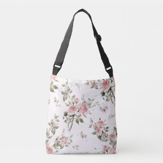 Shabby chic, french chic, vintage,floral,rustic,pi crossbody bag