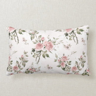 Shabby chic, french chic, vintage,floral,rustic,pi lumbar pillow