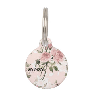Shabby chic, french chic, vintage,floral,rustic,pi pet tag