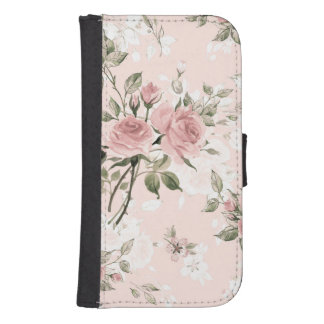 Shabby chic, french chic, vintage,floral,rustic,pi samsung s4 wallet case